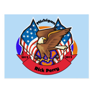 2012 Michigan for Rick Perry Postcard