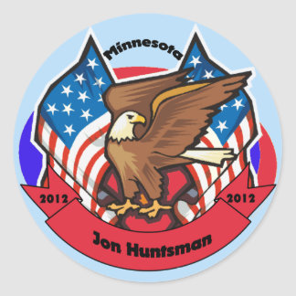 2012 Minnesota for Jon Huntsman Classic Round Sticker