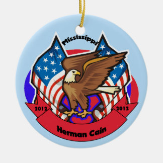 2012 Mississippi for Herman Cain Ornaments