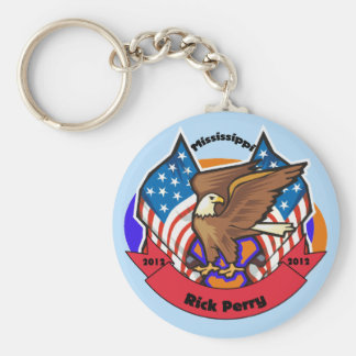2012 Mississippi for Rick Perry Basic Round Button Keychain