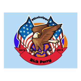 2012 Mississippi for Rick Perry Postcard