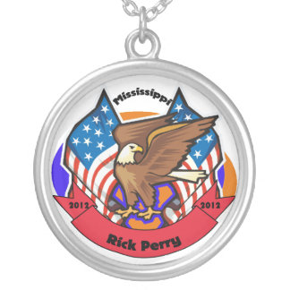 2012 Mississippi for Rick Perry Round Pendant Necklace
