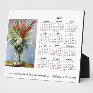 2012 Monet Calendar Plaque Philippians 4:13