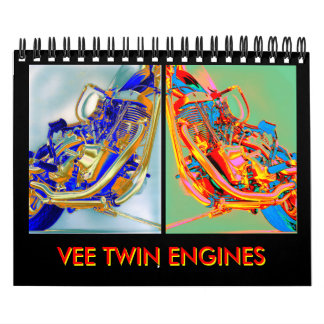 2012 Motorcycle engine mini-calendar Calendar