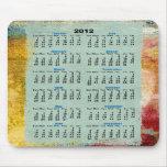 2012 mousepads del calendario alfombrillas de ratón