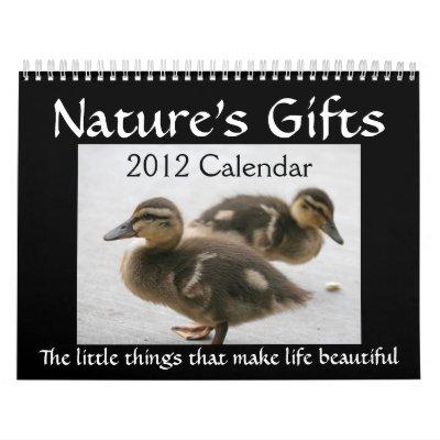 "2012 ""Nature's Gifts"" Calendar"