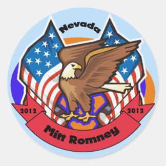 2012 Nevada for Mitt Romney Classic Round Sticker