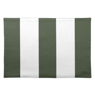2012 New Army Green & White Stripe Placemat Gift