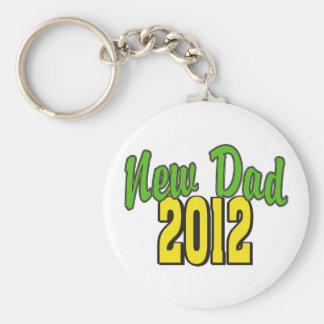 2012  New Dad Basic Round Button Keychain
