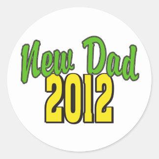 2012  New Dad Classic Round Sticker