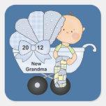 2012 New Grandma Square Sticker