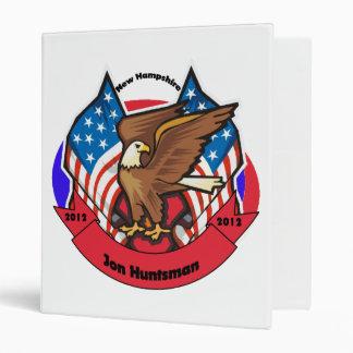 2012 New Hampshire for Jon Huntsman 3 Ring Binder