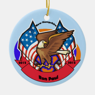 2012 New Hampshire for Ron Paul Ceramic Ornament