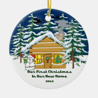 2012 New Home Christmas Cute Cabin Ornament