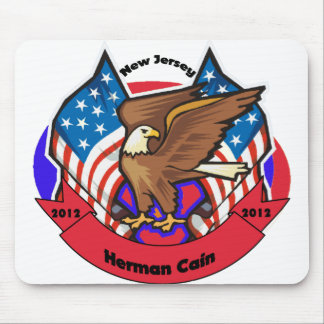 2012 New Jersey for Herman Cain Mouse Pad