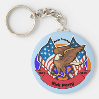 2012 New Jersey for Rick Perry Basic Round Button Keychain