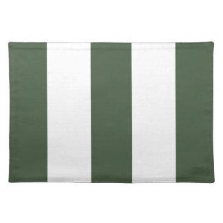 2012 New Khaki Green & White Stripe Placemat Gift