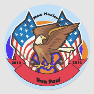 2012 New Mexico for Ron Paul Classic Round Sticker