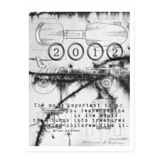 2012 New Year Roller Skate Card Postcard