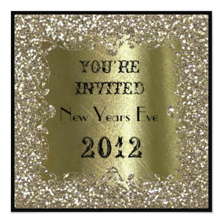 2012 NEW YEARS EVE  Gold Sparkle  Invitation