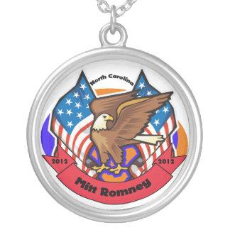 2012 North Carolina for Mitt Romney Round Pendant Necklace