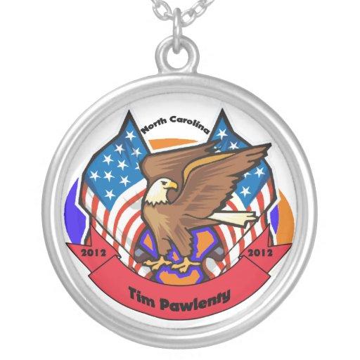 2012 North Carolina for Tim Pawlenty Round Pendant Necklace
