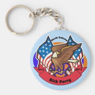 2012 North Dakota for Rick Perry Keychain