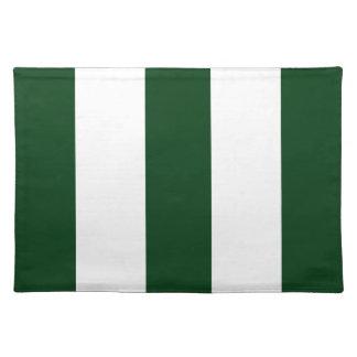 2012 nuevo regalo de Placemat de la raya del verde Manteles Individuales