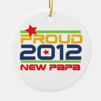 2012 nuevos camisetas y regalos orgullosos de la adorno navideño redondo de cerámica