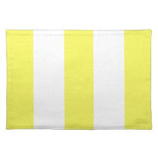 2012 nuevos regalos amarillos y blancos de Placema Mantel Individual