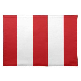 2012 nuevos regalos rojo oscuro y blancos de Place Manteles Individuales