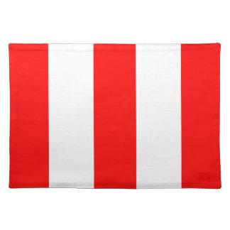 2012 nuevos regalos rojos y blancos de Placemat de Manteles Individuales