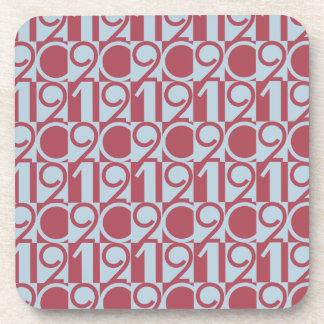 2012 Numbers Beverage Coaster