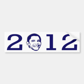 2012 Obama Head Bumper Sticker
