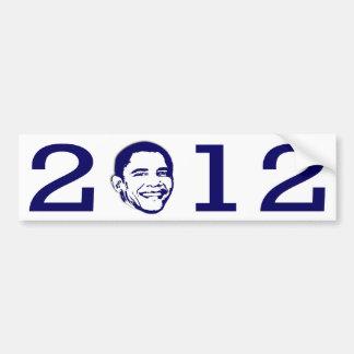 2012 Obama Head Bumper Sticker Car Bumper Sticker