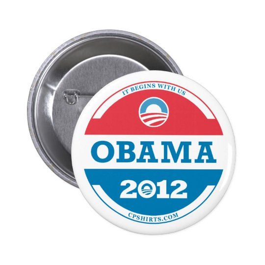 2012 Obama Logo Pinback Button