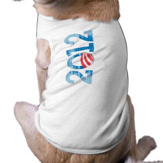 2012-OBAMA Vintage.png Dog Tshirt