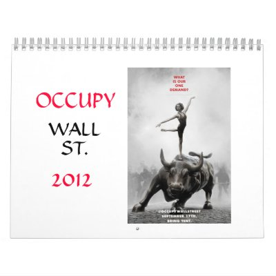 2012 Occupy Wall St. calendar