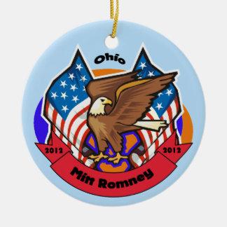 2012 Ohio for Mitt Romney Ceramic Ornament