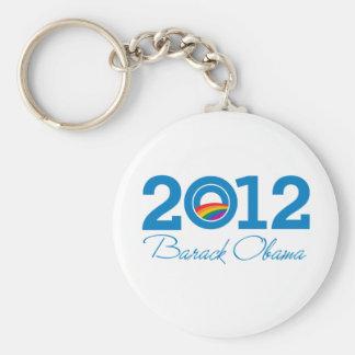 2012 - Orgullo de Barack Obama Llaveros Personalizados