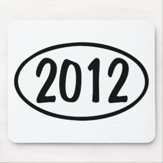 2012 Oval Mousepad