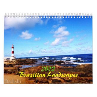 2012 paisajes brasileños calendario