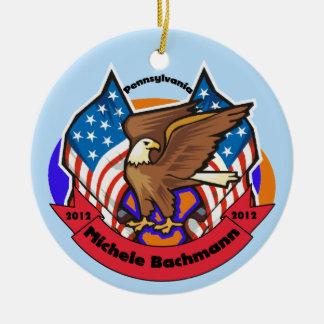 2012 Pennsylvania for Michele Bachmann Ceramic Ornament