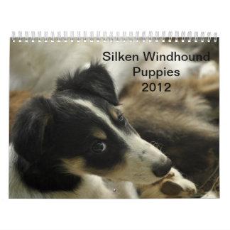 2012 perritos de seda 2 de Windhounds Calendarios