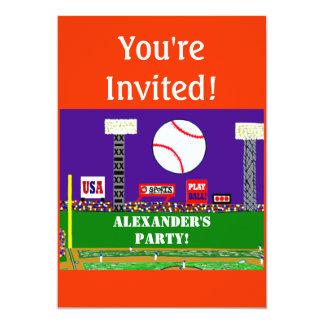 2012 Personalized Kids Sports Birthday Invitation