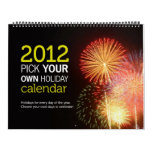 2012 Pick Your Own Holiday Calendar