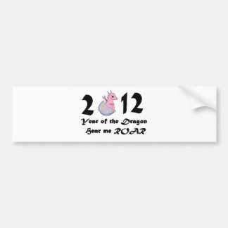 2012 pink baby dragon bumper stickers