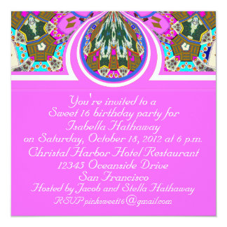 2012 Pink Sweet 16 Personalized Party Invitations