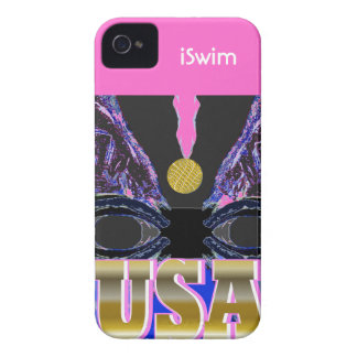 2012 Pink USA Sports Women's iSwim iPhone Case