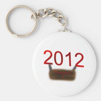 2012 Population 0 Keychain